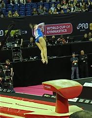 Twisting Vault (Skoda Girl) Tags: ladies gymnastics gymnast vault twisting somersault aerial world cup o2 2017 competitive sport