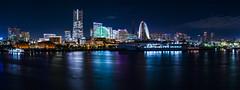 skyline of Yokohama (Art Fiveone) Tags: yokohama minatomirai japan panorama nightview nightshot nightscape 横浜 みなとみらい 夜景 パノラマ