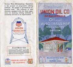 Washington-Oregon Auto Trails Map - Circa 1922 (tonopah06) Tags: washington or oregon wa autotrailsmap randmcnally highway road map unionoil unionoilcompany unionoilcompanyofcalifornia 1922