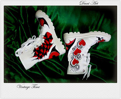 Women Sneakers Spectacular with Unique Design (art-store.net) Tags: womensshoes handpaintedtextilepaint originaldesign modernprint qualitycraftsmanship convenientmodel