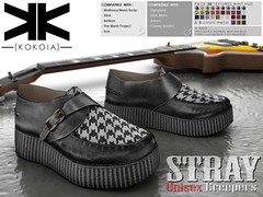 Stray :: Unisex Shoes :: 30 Textures ({kokoia}) Tags: stray casual kokoia shoes maitreya slink belleza tmp eve adam signature classic avatar secondlfie mesh shoetopia 2017 woman man men unisex creepers