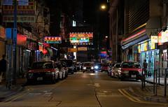 """wanchai night wanchai lights"" (iii) (hugo poon - one day in my life) Tags: xt2 50mm hongkong wanchai jafferoad citynight lights sign colours eating vanishing shop"