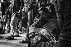 Hidden tears (Feca Luca) Tags: street reportage portrait ritratto woman donna blackwhite people station stazione india asia varanasi nikon travel