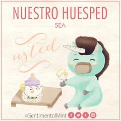 Nuestro huésped sea usted (SentimentalMint) Tags: fanart unicornio verde menta beauty beast bella y bestia chip disney taza te tetera