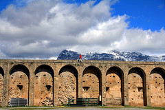 Game of Thrones? (Daniel Nebreda Lucea) Tags: wall muro nature naturaleza cloud nubes cloudy nublado storm tormenta winter nieve mountains montañas snow invierno landscape paisaje architecture arquitectura building edificio construccion stone piedra old antiguo viejo city ciudad town pueblo ainsa aragon spain españa travel viajar adventure aventura man hombre walk walking andar andando color colors canon 60d lines lineas composicion composition castle castillo church game thrones juego tronos structure estructura defensa