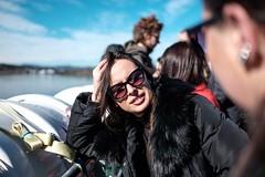 Boat ride (borishots) Tags: fuji fujinon fujifilm fujifilmxe2 fujinon23mmf14 f14 wideopen bokeh bokehlicious bokehwhore portrait woman girl colors colorful red green blue sea oslo norway scandinavia boat people classicchrome sneakers