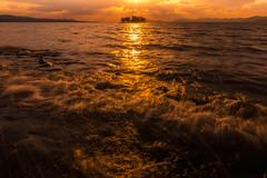 sunset 6233 (junjiaoyama) Tags: japan sunset sky light sun sunshine cloud weather landscape golden contrast colour bright lake island water nature winter