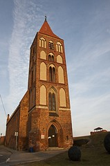 Gothic church in Chełmno Poland (elzbietafazel) Tags: church gothic chelmno poland architecture brick vertical teutonicknights medieval historic tall tower spire steeple tourism travel pomeranian worship roman catholic place sky town urban city cityscape