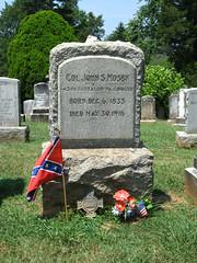 Colonel John Singleton Mosby, 43rd Battalion, Virginia Cavalry (Photo Squirrel) Tags: cemetery warrentoncemetery warrenton virginia confederate civilwar grave gravestone gravemarker graveyard headstone tombstone memorial monument