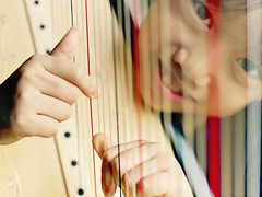 A Tune A Day (Anna Kwa) Tags: k portrait strings harp harpist practice annakwa nikon d750 afsvrmicronikko105mmf28gifed my music always refuge seeing heart soul throughmylens musician space loneliness passion atuneaday life hands firedance davidwatkins dreams eyes