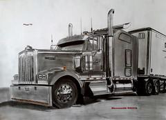 Kenworth W900L (paul7310) Tags: kenworth truck авто рисунок грузовик w900l
