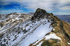 Tarmachan ridge (OutdoorMonkey) Tags: ridge peak crest path meallgarbh meallnantarmachan benlawers scotland outside outdoor wild wilderness remote countryside track snow mountain munro