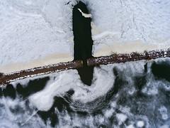 Causeway (Matt Champlin) Tags: drone drones dji djiphantom4 phantom4 aerial uav abstract random ice otisco fingerlakes lake cny syracuse aerialphotography dronephotography 2017 winter march causeway spafford