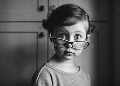 103  365 (trois petits oiseaux) Tags: personality glasses blackandwhite childhood kids