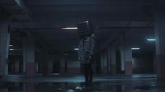 Media , The False Messiah (LeARninGJohN) Tags: conceptual television cinematic film figure parking blackmagic bmpcc movie