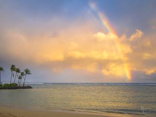 Hawaiian Rainbow at Sunset