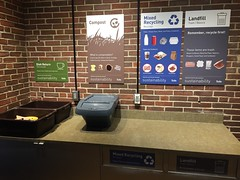 Mugar Cafe waste station (greentufts) Tags: compost recycling mugar cafe signage waste mixed