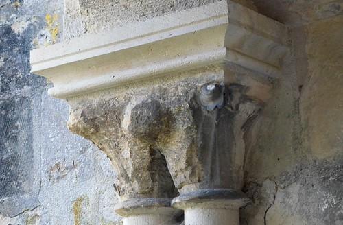 St-Thierry (Marne), ancienne abbatiale St-Hilaire -sculpture romane