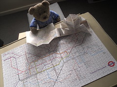 I'm not lost, I know eggsactly where I am! (pefkosmad) Tags: jigsaw puzzle london underground map tube tedricstudmuffin teddy bear ted cute soft stuffed animal toy fluffy plush hobby leisure pastime