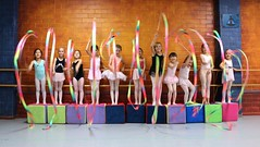Fun With Ribbons In Tuesday 4:30 Ballet Class (Chic Bee) Tags: youngdancers havingfun composition photoshoot art impressionist blur speed effect arizonaballettheatre tuesday430balletclass misscecily tucson arizona southwesternusa america americansouthwest