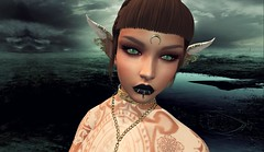 Save my Soul (bexhaven) Tags: burley emily pout gothic princess cateye bento catwa catya snakebites labret cerberus empire nails hair tattoo steletto hypnose hypnotica star arabictattoo reign anaiya elf fantasy dark