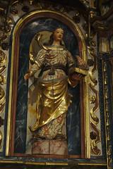 Statua de Santa Coloma (Arnold Metselaar) Tags: houtsnijwerk fietsvakantie sculptuur standbeeld andorra santacoloma
