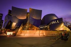 Walt Disney Concert Hall (Geoff Livingston) Tags: architecture bluehour purple concert art hall night visibility scene buildings