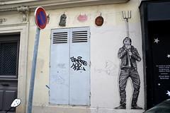 Levalet (Ausmoz) Tags: paris street art streetart rue urbain urban mur murs wall walls sticker stickers poster posters collage collages pasteup levalet 75018