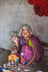 Style is ageless~ Varanasi (~mimo~) Tags: sarree village house mud people canon5dmarkiii canon asia trip wanderlust travel photography varanasi portrait india woman