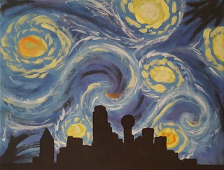 Dallas Skyline: painted by me