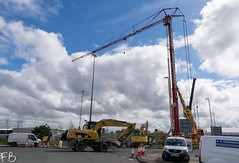 Bryn Thomas Crane (frisiabonn) Tags: outdoor merseyside england uk britain liverpool birkenhead crane bridge demolition dismantle bryn thomas excavator plant cat