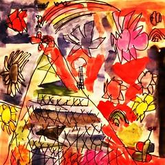 1st grade student Bastille Day Eiffel Tower painting closeup - fun!  a student from Julia Forsyth's art classroom #art #arted #artsed #eiffeltower #bastilleday #painting (JuliaForsythArt) Tags: france tower art painting square french 1st eiffeltower lofi first eiffel grade squareformat sharpie bastille firstgrade bastilleday tempera 1stgrade arted firstgradeart temperapaint 1stgradeart artsed iphoneography instagramapp uploaded:by=instagram