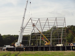 Erecting The Tent (Mr Cheerful) Tags: scientology cult anonymous ias eastgrinstead sthill ias2014