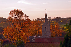 Ten Past Eight (AndyorDij) Tags: uk autumn trees england tree church rutland 2014 empingham stpeterschurchinempingham