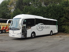 DSCN7314 Scania GB, Worksop YN14 PMU (Skillsbus) Tags: england buses andrews derbyshire peakdistrict tideswell coaches scania irizar irízar
