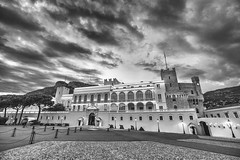 Prince's Palace (rianklong) Tags: blackandwhite bw building castle architecture prince palace montecarlo monaco princes fortress grimaldi princespalace canonef1635mmf28liiusm canoneos5dmarkii canon5dmarkii