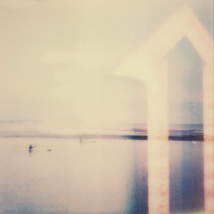(mister sullivan) Tags: ocean sea film bar polaroid lights still doubleexposure paddle canoe swans dorset rowing instant arrow englishchannel mudeford polaroidweek roidweek impossibleproject px680 instantlab roidweek2014