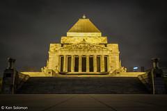 Shrine Of Remembrance. (kensol72) Tags: night shrine fuji australia melbourne victoria fujifilm 1855mm fujinon xf shrineofremembrance xe2
