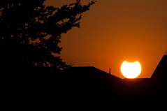 A rare sunset (stevesheriw) Tags: partial solar eclipse sun moon astronomy october 2014 sunset explore