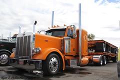 Orange Pete (RyanP77) Tags: show wheel truck cattle dump semi chrome rig pete heavy stockton tanker peterbilt 389 359 hauler cabover 388 379 352 daycab