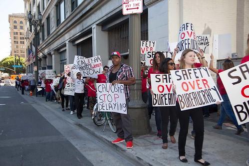 Condoms in Porn Protest at Cal/OSHA