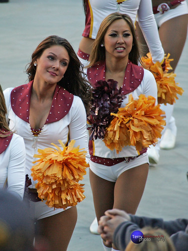 Redskinette Cheerleaders Crysten and Lee.