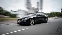 BMW F32 435ix Coupé (patrickbraun.net) Tags: black car speed movement motionblur bmw coupé rigshot 435i fujifilmxt1 fujinonxf1024mmf40rois