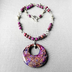 SOLD ($35) (Rock Goddess Design) Tags: necklace jasper purple handmade sold violet jewelry handcrafted sets pendant gemstone handmadejewelry rockgoddess silverplated basemetal handcraftedjewelry n400 impressionjasper rockgoddessdesign sedimentjasper gogopendant