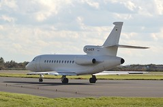 DASSAULT FALCON DF900EX  D-AHER  STANSTED  7.10.14 (vivcarfilm) Tags: falcon stansted dassault daher 81014 df900ex