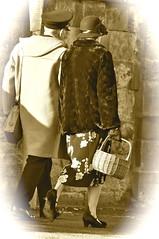 _DSC0891 (petefreeman75) Tags: uk costumes sepia vintage costume cosplay wwii hats 1940s ww2 uniforms furs nylons nymr warweekend 2013 seamedstockings wartimeweekend fortiesweekend railwayatwar pickeringwartimeweekend