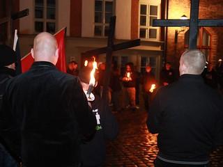 Fotogalerie vom NPD-Fackelmarsch in Stralsund
