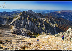 Take My Breath Away (TranceVelebit) Tags: autumn people italy mountains grande hiking gran peaks height abruzzo corno apennines sasso apennini