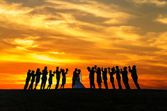 That One Crazy Sunset (Extra Medium) Tags: wedding sunset silhouette kissing camarillo bridalparty wedgewood stockphoto donotsteal nikond4 availabletolicense venturacountyweddingphotographer courtesyclouds sterlinghillsgolfclub