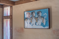 Knossos palace frescos (allyearround) Tags: ladies history three ancient women ruins room picture palace greece crete chamber legends gods historical archeology fresco knossos